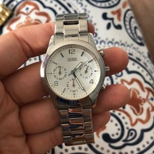 Silver GUESS Wrist Watch